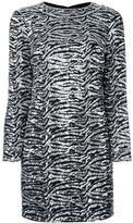 Saint Laurent sequin embellished shift dress - women - Silk/Polyester/Wool - 40