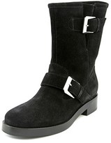 Max Mara Orafo Women Round Toe Leather Black Ankle Boot.