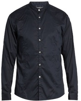John Varvatos Grandad-collar Cotton Shirt