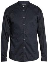 John Varvatos Granddad-collar Cotton Shirt