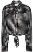 Saint Laurent Cropped polka-dot shirt