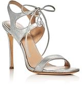 Pour La Victoire Elisa Metallic Lace Up High Heel Sandals