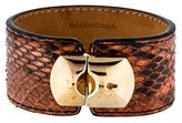 Balenciaga Leather Cuff Bracelet