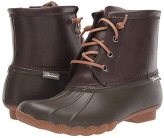 Skechers Pond - Washed Out (Olive/Brown) Women's Boots