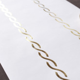 "Minted ""72"""" Links Gold Foil-Pressed Table Runners"""