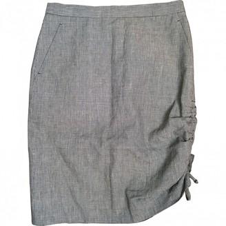 Wunderkind Grey Linen Skirt for Women