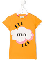 Fendi Cloud T-shirt - kids - Cotton/Spandex/Elastane - 2 yrs