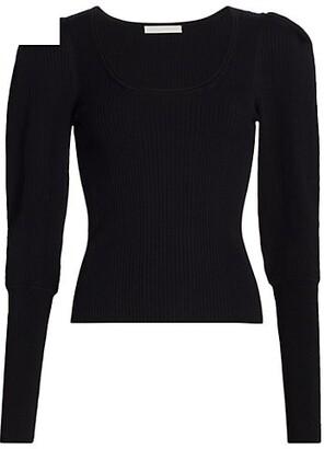 Jonathan Simkhai Mila Puff-Sleeve Sweater