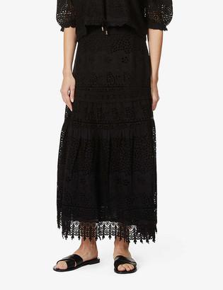 Melissa Odabash Alessia broderie anglaise high-waist cotton maxi skirt