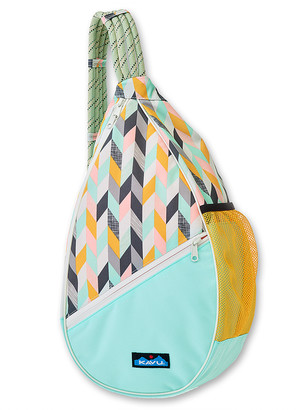 Kavu Women's Satchels Chevron - Chevron Sketch Paxton Pack Sling Backpack