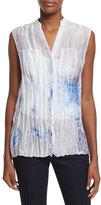 Elie Tahari Enya Sleeveless Printed Blouse