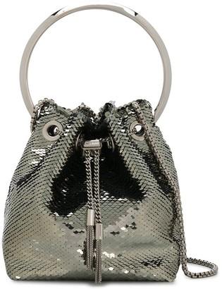 Jimmy Choo Bon Bon sequin-embellished tote bag