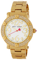 Betsey Johnson Women's Pave Crystal Bracelet Watch