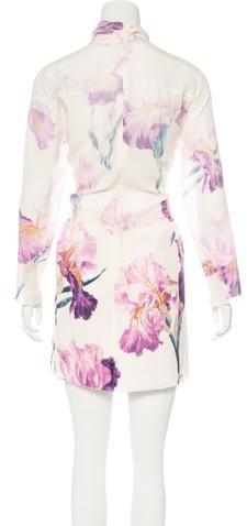 Nina Ricci Floral Print Silk Dress w/ Tags
