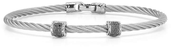 Alor 18k White Gold & Diamond Cable Bracelet, 0.11tcw