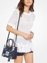 Michael Kors Fringed Cotton-Blend Knit Pullover