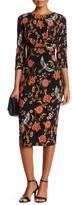 Sangria Floral Print Midi Dress