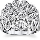 Sirena 1 CT. T.W. Diamond 14K White Gold Swirl Dome Ring