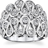 Sirena MODERN BRIDE 1 CT. T.W. Diamond 14K White Gold Swirl Dome Ring