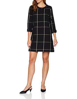 Fat Face Women's Rachel Check Dress, (Black Blk)