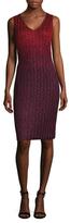 St. John Riviera Metallic Sequin Sheath Dress