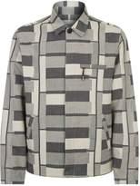 Folk Striped Jacquard Jacket, Black, XL