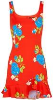 De La Vali Christabel Floral-print Mini Dress