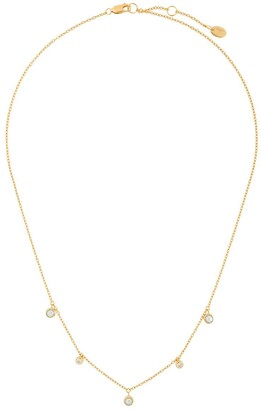 Northskull Triple Pearl Charm Necklace