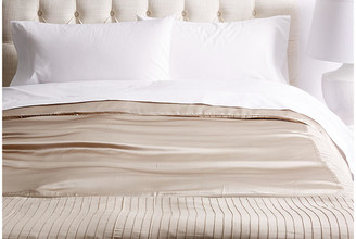 Kumi Kookoon French Pleat Silk Duvet Cover - Taupe Queen