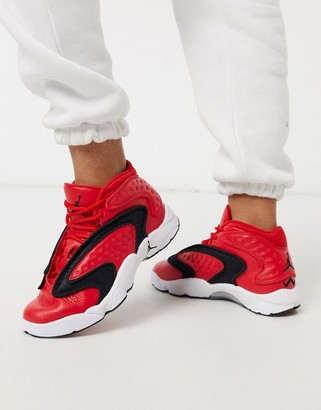 Jordan Nike Air OG sneakers in university red/black