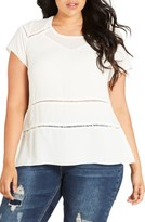 City Chic Plus Size Women's Night Out Top