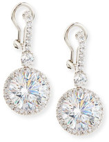 FANTASIA Round Cubic Zirconia Drop Earrings