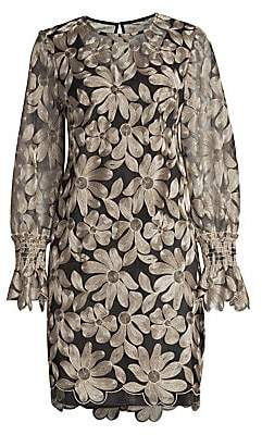 Trina Turk Women's Wine Country Vinology Embroidery Sheath Dress