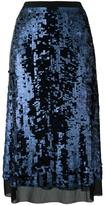 Tory Burch sequinned A-line skirt - women - Cotton/Polyamide/Polyester/Spandex/Elastane - L