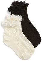 Ruby & Bloom Toddler Girl's Short & Sweet 2-Pack Ankle Socks