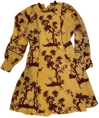 Maison Scotch Yellow Cotton Dress for Women
