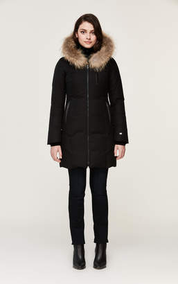 Soia & Kyo CHRISTY brushed down coat with natural fur
