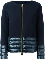 Herno padded detail zipped jacket
