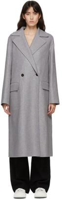 Jil Sander Grey Cashmere Coat