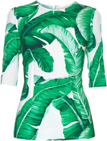 Dolce & Gabbana Banana leaf-print top
