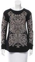 Alberta Ferretti Metallic-Accented Intarsia Sweater