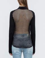 McQ Crochet Back Zipped Cardigan