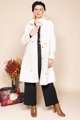 Derhy - Ecru Sagesse Furry Coat - Large