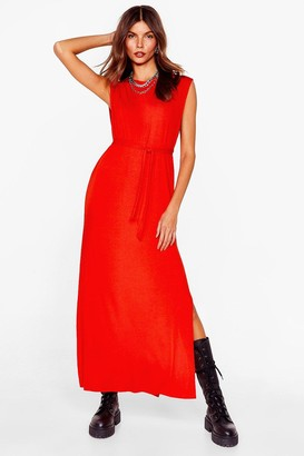 Nasty Gal Womens Tie Candy Belted Midi Dress - Orange