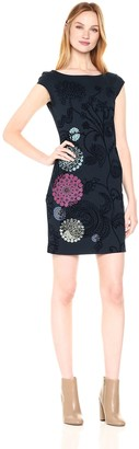 Desigual Women's Crhystel Woman Knitted Short Sleeve Dress