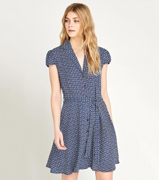 New Look Tile Print Shirt Dress