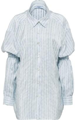 Prada shoulder straps pongé shirt