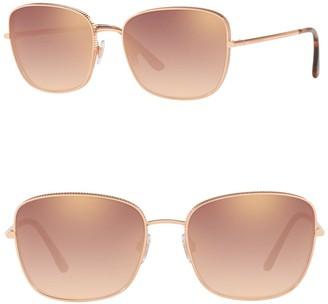Dolce & Gabbana 58mm Mirror Square Sunglasses