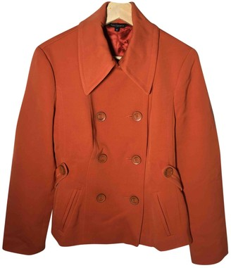 Tara Jarmon Orange Wool Coats