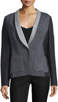 Escada Shawl-Collar One-Button Jacket, Charcoal